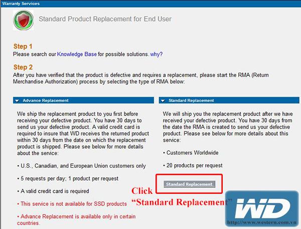 hướng dẫn bảo hành ổ cứng Western