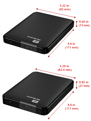 ổ cứng wd elements 2.5 inch 1.5tb