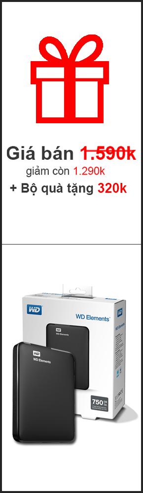 Ổ cứng ngoài WD Elements 750GB