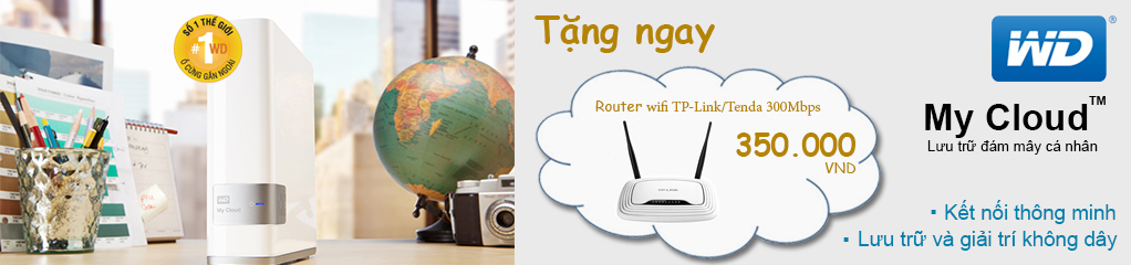 Ổ cứng mạng WD My Cloud tặng Router Wifi