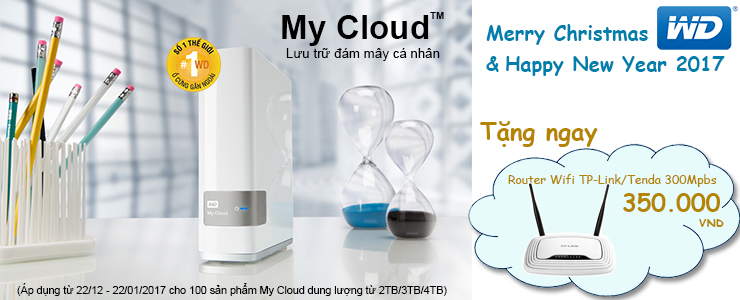 WD My Cloud tặng router wifi