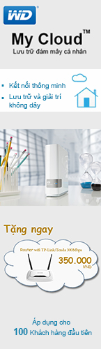 Ổ cứng mạng WD My Cloud tặng Router Wifi 145x500