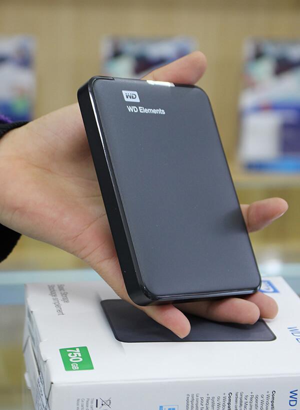 Ổ cứng di động WD Elements 750GB kích thước nhỏ gọn