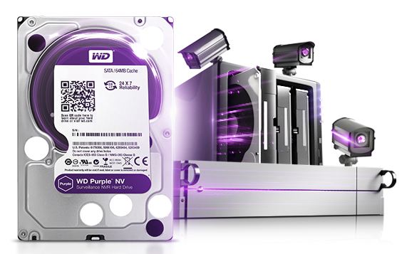 Ổ cứng camera WD Purple NV cho NVR