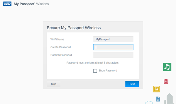 set up wifi wd my passport wireless