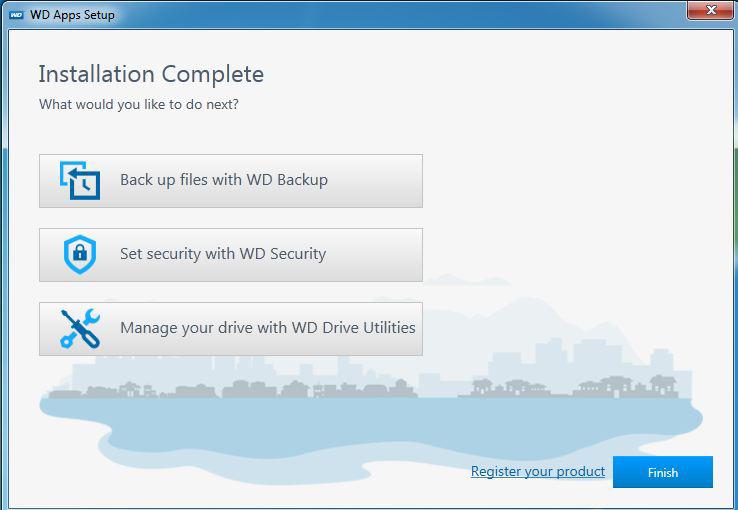 Cài đặt sử dụng WD Backup, Security và Utilities trên ổ cứng ngoài WD