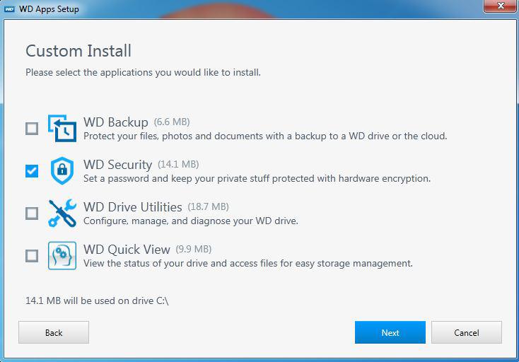 Cài đặt ứng dụng WD Backup, Utilities và WD Security | vozForums
