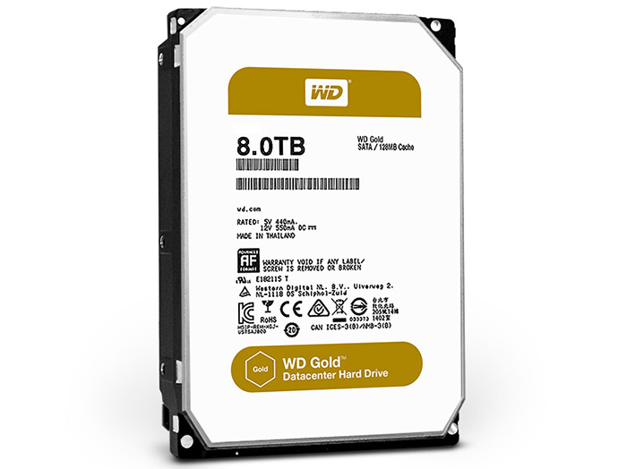 Ổ cứng 8TB WD Gold cho datacenter