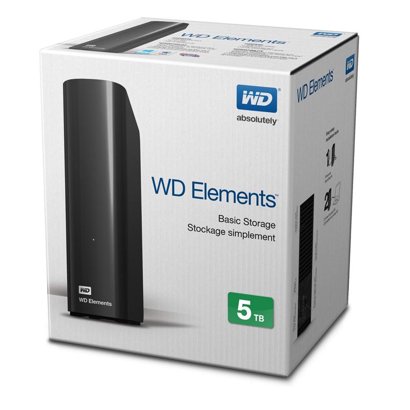 Ổ cứng ngoài WD Elements 5TB USB 3.0 WDBWLG0050HBK