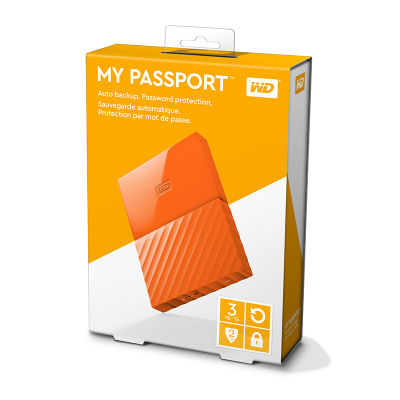 Ổ cứng WD My Passport 3TB WDBYFT0030BOR Orange