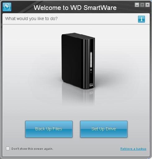 WD SmartWare - Set up Drive