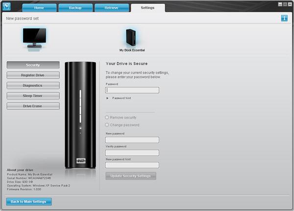 đổi mật khẩu wd smartware