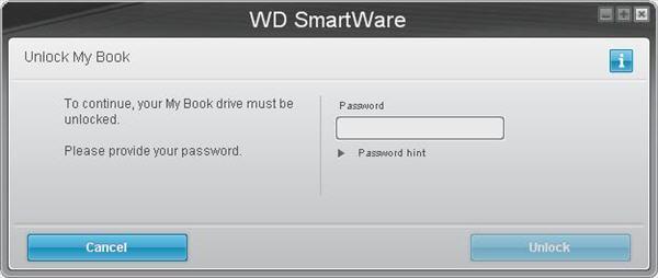 mở khóa tự động trong wd Smartware