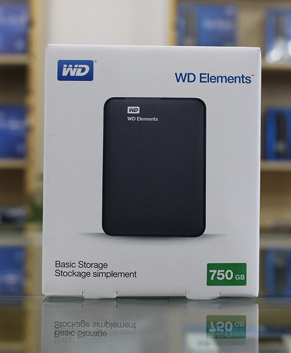 WD Elements 750gb full box