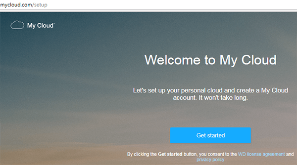 Get started hệ thống tìm kiếm thiết bị wd my cloud trong mạng