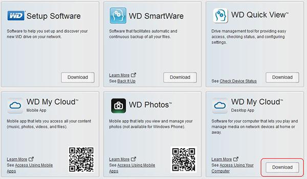 Truy cập dữ liệu tới ổ cứng mạng Nas WD My Cloud