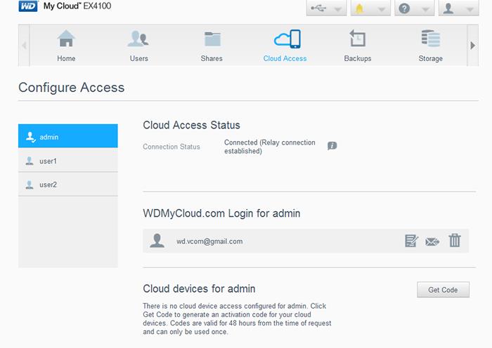 truy cập từ xa tới wd my cloud ex4100