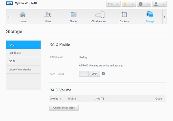 cấu hình raid trên my cloud ex4100