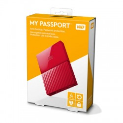 Ổ cứng WD My Passport 4TB WDBYFT0040BRD Red